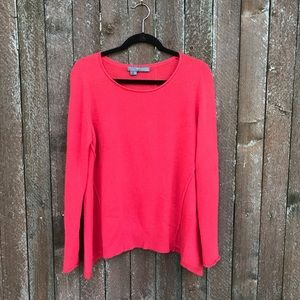 Cashmere pink high low 360 sweater L fall cute